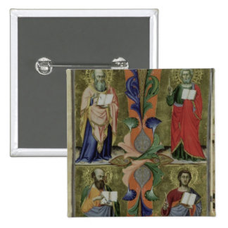 Four Evangelists, 14th century (vellum) 2 Inch Square Button