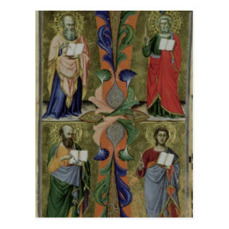 Four Evangelists, 14th century (vellum) Postcards