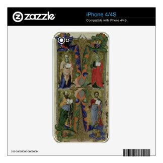 Four Evangelists, 14th century (vellum) Skin For iPhone 4S