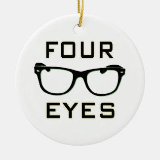 Four Eyes Ceramic Ornament