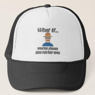 Four eyes trucker hat