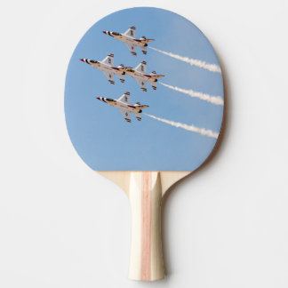 Four F-16 Thunderbirds fly in close formation Ping-Pong Paddle