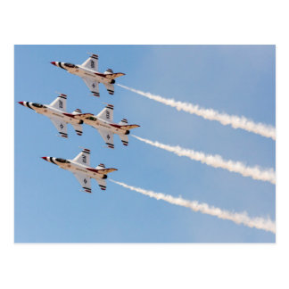 Four F-16 Thunderbirds fly in close formation Postcard