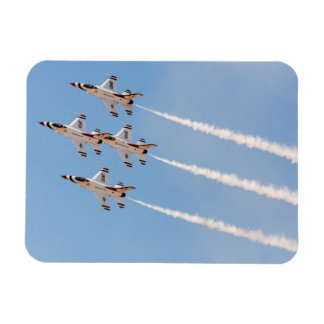 Four F-16 Thunderbirds fly in close formation Rectangular Photo Magnet