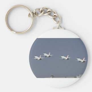 Four F-16s Taking Off Keychains