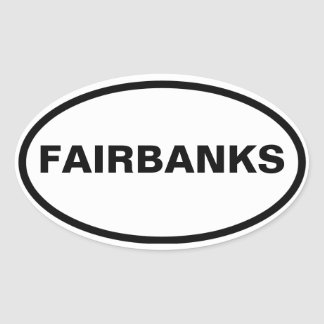 FOUR Fairbanks, Alaska Oval Sticker