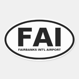 """FOUR Fairbanks """"FAI"""" Oval Sticker"""