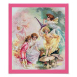 Four Fairies in Butterflyland Print