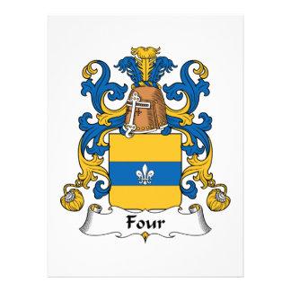 Four Family Crest Custom Announcement