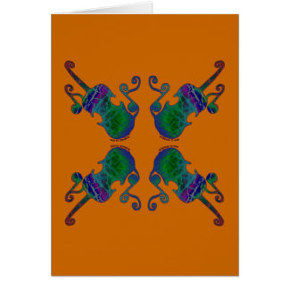 FOUR FANCY FIDDLES CARD