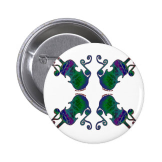 FOUR FANCY FIDDLES PINBACK BUTTON