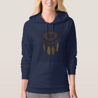 Four Feather Dreamcatcher Pixel Hoodie