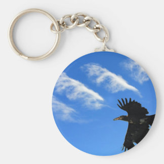 Four Feathers Basic Round Button Keychain