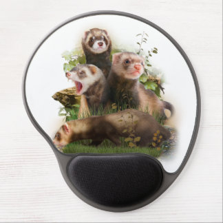 Four Ferrets in Their Wild Habitat Gel Mouse Pad
