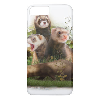 Four Ferrets in Their Wild Habitat iPhone 7 Plus Case