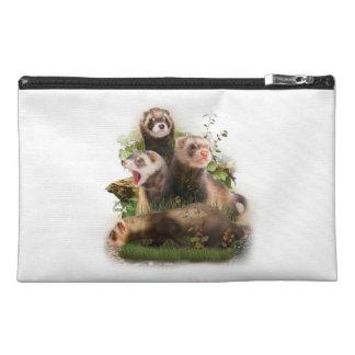 Four Ferrets in Their Wild Habitat Travel Accessory Bag