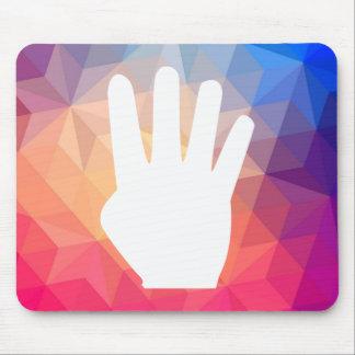 Four Fingers Pictograph Mouse Pad