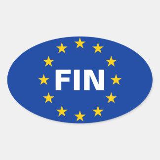 "FOUR Finland ""FIN"" European Union Flag Oval Sticker"