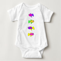 Four Fish Baby Bodysuit