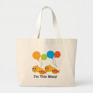 Four  Fish I'm This Many Tote Bag