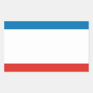FOUR Flag of Crimea Rectangular Sticker
