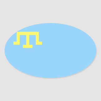 FOUR Flag of Crimean Tatar People Oval Sticker