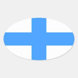 FOUR Flag of Marseille Oval Sticker