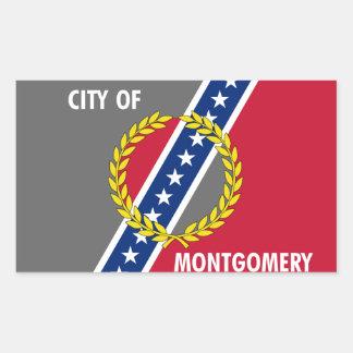 FOUR Flag of Montgomery, Alabama Rectangular Sticker
