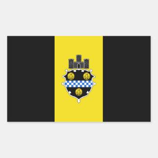 FOUR Flag of Pittsburgh Rectangular Sticker