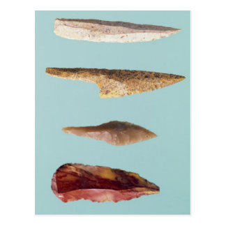 Four Flint Tools Postcard