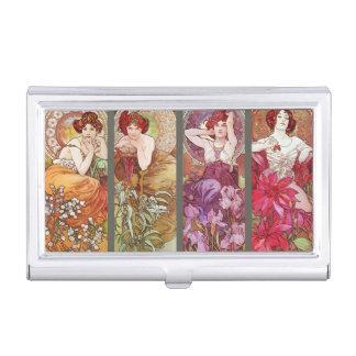 Four Floral Muchas Case For Business Cards