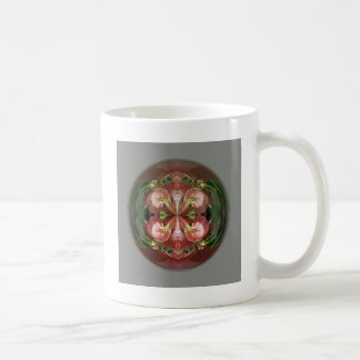 Four Flower Globe Coffee Mug