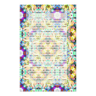 Four Flower Kaleidoscope Lined Stationery