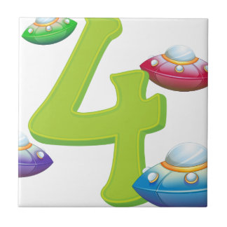 Four flying saucers tile