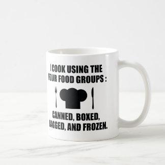 Four Food Groups Coffee Mug