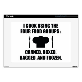 Four Food Groups Decals For Laptops