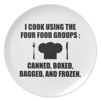 Four Food Groups Dinner Plate