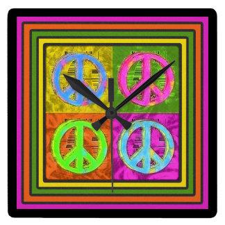 FOUR FOR PEACE Clock
