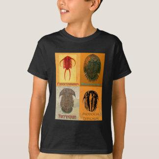 Four Fossil Trilobite Montage T-Shirt