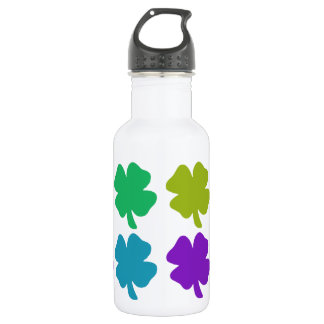 Four four leaf clovers 18oz water bottle