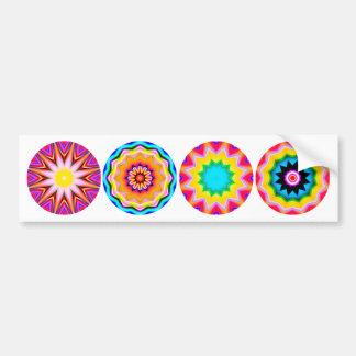 Four Fractal Mandalas 02 Bumper Sticker