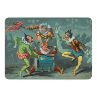 Four French Clowns Invitation