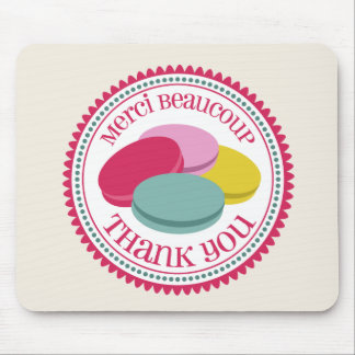 Four French Macarons Mouse Pad