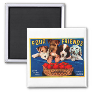 Four Friends Magnet