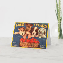 Four Friends Vintage Tomato Crate Label
