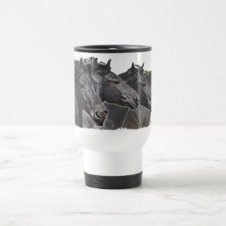 Four Friesians Travel Mug