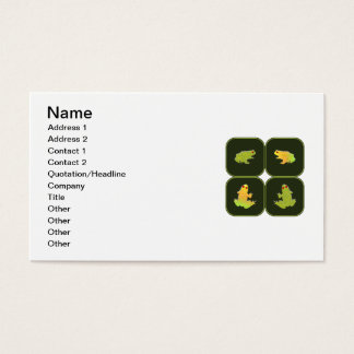 Four frogs business card