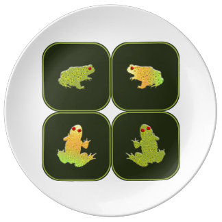 Four frogs dinner plate