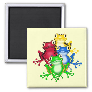 Four Frogs Tshirts and Gifts 2 Inch Square Magnet