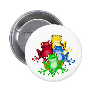 Four Frogs Tshirts and Gifts Pinback Button